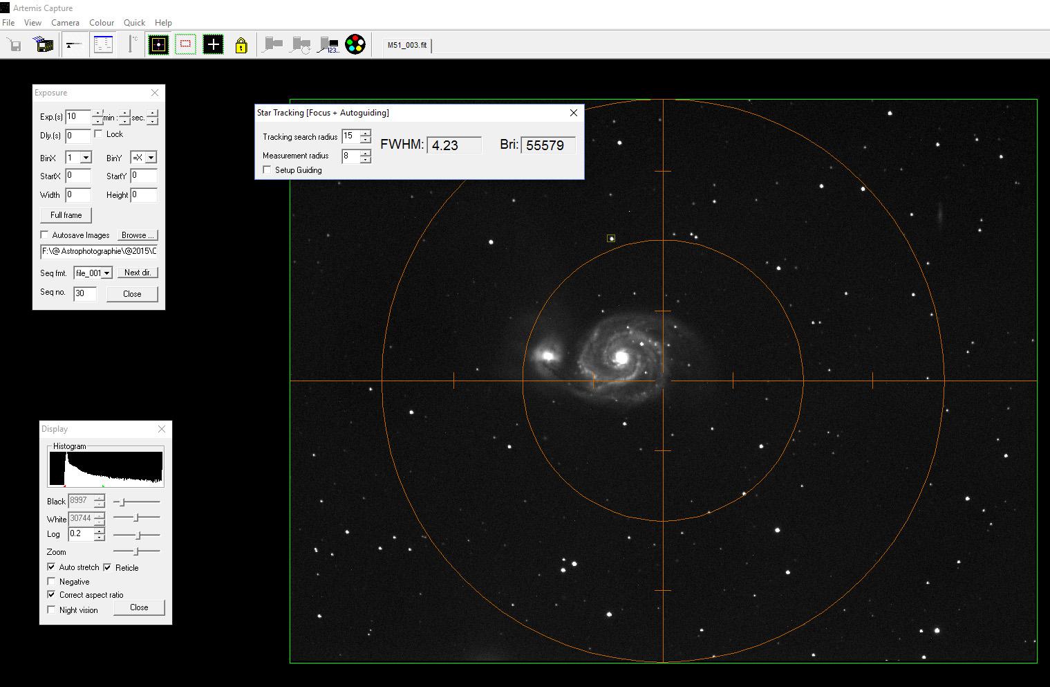 Ma 1ère image CCD Artemis